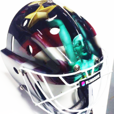 Blindsave Golaie Mask Front part for WFC2014 National Team of latvia player Andis Blinds #31