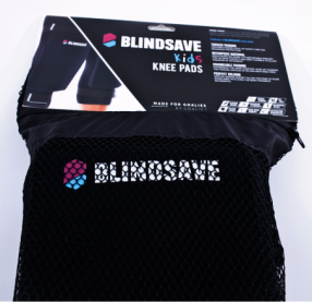 blindsave knee pads kids bag tag